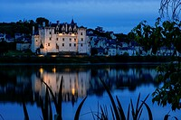 Château of Montsoreau, was built on the Loire in 1455, at the confluence of the Loire and Vienne rivers. Montsoreau, Maine-et-Loire, Pays de la Loire ...