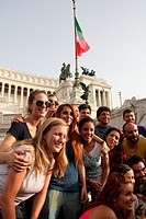 Rome, Italy 24th June 2014 Piazza Venezia Square, Italian supporters watch the World Cup football match on a big screen between Italy and Uruguay resu...