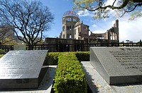 Genbaku Dome, Peace Memorial, World Heritage Site, Hiroshima, Japan, Site of first atomic bomb attack, Horizontal.