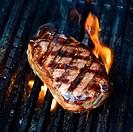 A close up shot of an Australian Porterhouse steak.