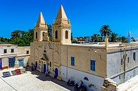 Africa, North Africa, Maghreb, South Tunisia, Governorat of Medenine, Djerba island, Houmt Souk. Saint Joseph Catholic Church.