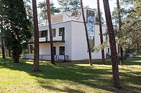 Bauhaus Meisterhäuser, former homes of Gropius and other professors of the school that founded modernism, in Dessau, Germany.