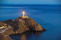 Lighthouse of Cabo de Gata, viewpoint of the Mermaids, Cabo de Gata - Nijar Natural Park, Almeria province, Andalucia, Spain