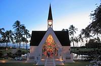 Hawaii, Maui, Wailea, Grand Wailea Resort, chapel,.