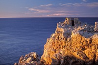 Punta Nati at sunset. Menorca minorca balearic island islands