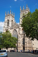 West Front of the Minster York North Yorkshire England UK United Kingdom GB Great Britain.