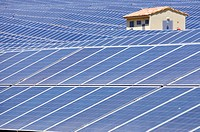 Solar field in Corsica, France.