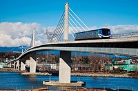 Driverless rapid transit system in Vancouver, Canada.