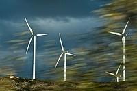 Wind turbines Albacete Castilla-La Mancha Spain.
