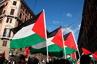 Rome, Italy 24th July 2014 Pro Palestine rally in the Esquilino district of Rome, Italy.