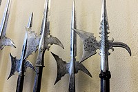 Medieval instruments of destruction at the ready.