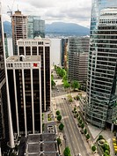 View of Vancouver Downtown and Financial District from 31st floor.