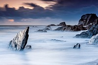 Rocky Coast at Ayrmer Cove in South Devon, South Hams, England, United Kingdom, Europe.