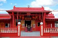 A chinese temple at Simunjan town, Sarawak, Malaysia.