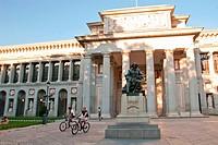 Velazquez statue in El Prado museum, Madrid.