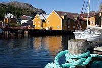 Nusfjord, Lofoten Islands, Nordland, Norway, Scandinavia, Europe.