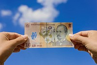 Romanian banknotes.