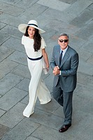 George Clooney and Amal Alamuddin wedding at Venice town hall, Venice, Italy, Europe.