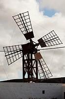 Old windmill in Fuerteventura, Canary Islands, Spain, Europe.