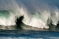 Waves in Morro Bay, California, USA.