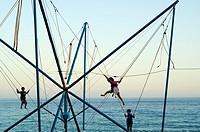 Game for children in Nerja, Malaga, Spain