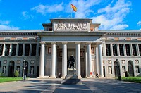 The Museo del Prado in Madrid and monument to Diego Velázquez (1599-1660), maybe the greatest Spanish painter together Francisco de Goya (1746-1828), ...