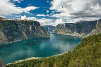 View over Aurlandsfjord, Norway.