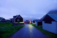 Village of Gjójv, Eysturoy, Faroe Islands.
