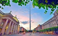 Dublin Spire at sunset.
