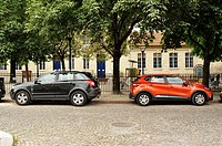 parked cars, Bordeaux, Gironde Department, Aquitaine, France--.