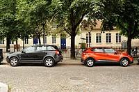 parked cars, Bordeaux, Gironde Department, Aquitaine, France--.