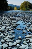 Sil river landscape in Orense province, Spain.