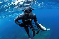 Spearfishing in Azores, Portugal.
