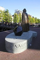 Spinoza Statue Amsterdam Holland.