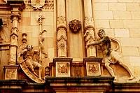 Facade of the San Ildefonso residence hall, Renaissance style, University of Alcala de Henares, province of Madrid, Spain