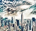 Dusk over Manhattan.