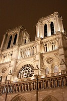 Cathedral Notre Dame de Paris, City of Paris, french capital, Ile-de-France, France.