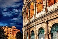 Beautiful view of Colosseum, Rome landmark.