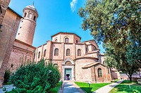 Ravenna, Italy. Famous San Vitale Cathedral, exterior view.