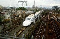 Shinkansen at Kyoto, Japan