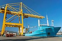 Commercial port, Algeciras, Cadiz province, Region of Andalusia, Spain, Europe.