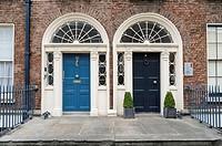 No.29 Georgian museum entrance, Dublin, Ireland, Europe.