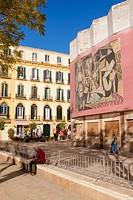 Plaza de la Merced, Malaga, close to Picasso´s birthplace. Malaga, Andalucia, Spain.
