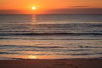 Brilliant sunrise, Assateague Island National Seashore, Maryland, USA.