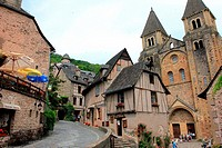 The village of Conques, Aveyron, Midi-Pyrénées, France.