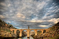 Roman bridge of Alcantara. Dates from de II century B.C. It was very important over the history as a strategic point to cross the Tagus river during R...