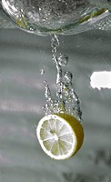Lemon water submerging