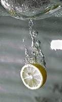 Lemon water submerging