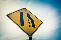 Lane changing sign.