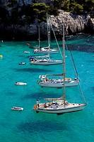 Cala Macarella, Menorca, Balearic Islands, Spain.
